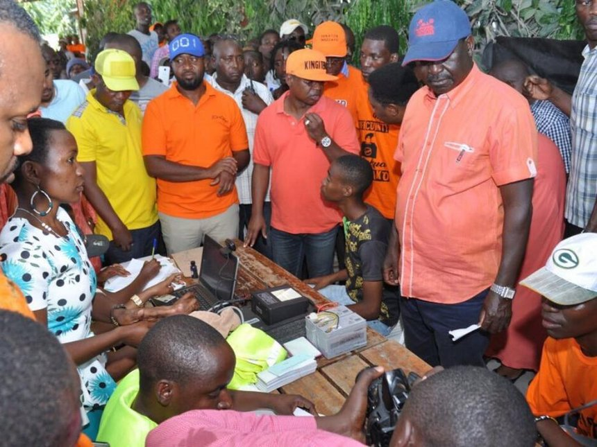 Stop the mischief, Raila tells IEBC after 2nd person found with his ID number