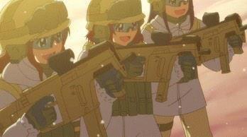 アニメでクリスベクターが使われたのはエンジェルビーツが有名かな。 あとさばげぶっ!にも出てる。