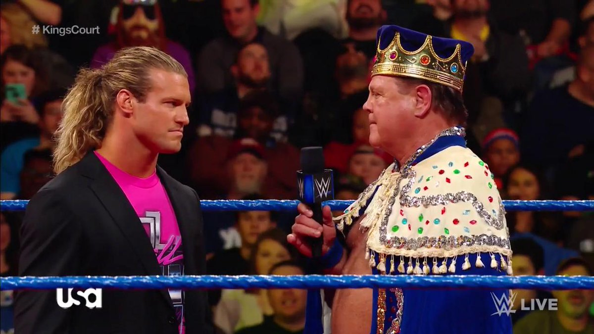 .@JerryLawler had a question for @HEELZiggler, and #TheShowOff answered... with a SUPERKICK! #SDLive #KingsCourt