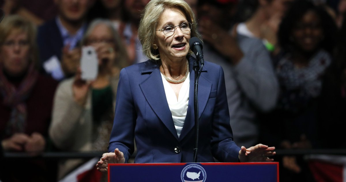 DeVos outlines vision for U.S. Department of Education