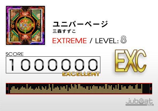 ユニバーページをプレー! Score:1000000 #jubeat_plus アウトブレイクカンパニー!!ペトラルカ可