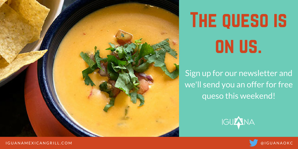 Sign up for our newsletter and get a big bowl of Seven Pepper Queso this weekend!  https://t.co/qKZBO8i0Jt https://t.co/b8uJFd2W9A