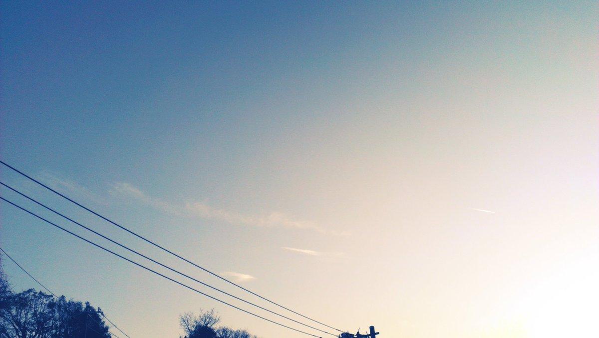 夕暮れ 先程まで窓辺に居ると暑い位だったのですがね~。陽が落ちてきてジョジョに風が冷たく変わって来ました。が、今夜は「オ