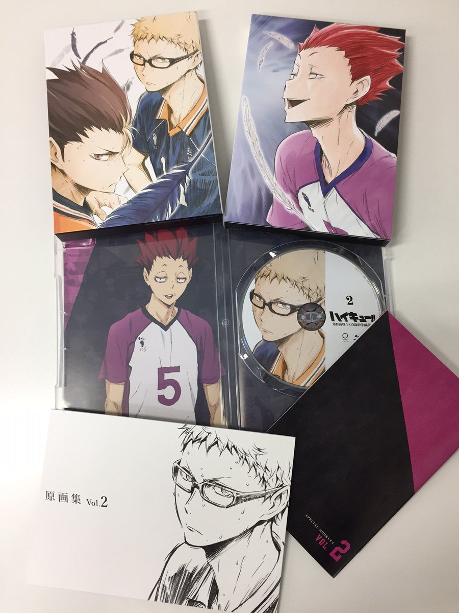 本日発売です!!【ハイキュー!! 烏野高校VS白鳥沢学園高校】Blu-ray・DVD Vol.2 TaSのVol.1~V