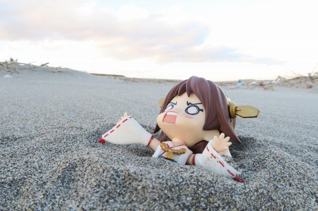 流砂に飲み込まれる比叡「ひえー」#艦これ  #ねんどろいど
