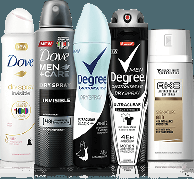 Free Sample of Dove, Degree, or Axe Dry Spray Antiperspirantfreebies