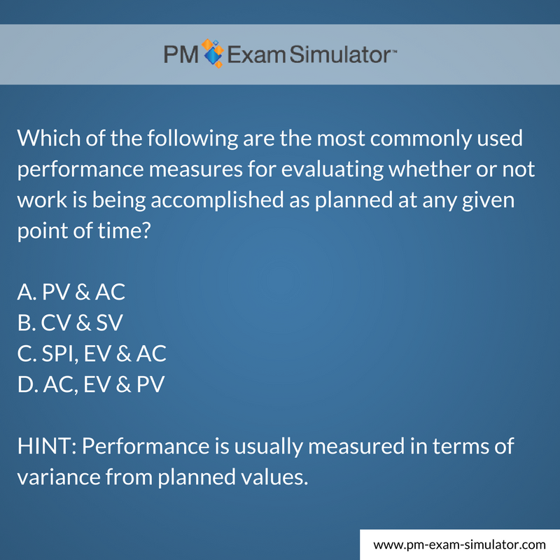 Free PMP® Exam Sample Question of the Week - https://t.co/mZeuhuZYqK #PMP #PMPexam https://t.co/qGuwLtFe7Z