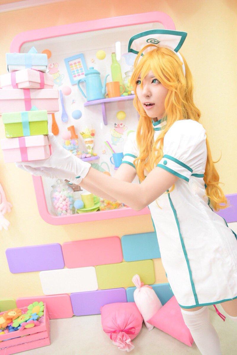 【コスプレ】アイドルマスター マルチクロスナース/星井美希p:たちことても可愛く撮ってもらえたので…!ありがとう〜🙏💓