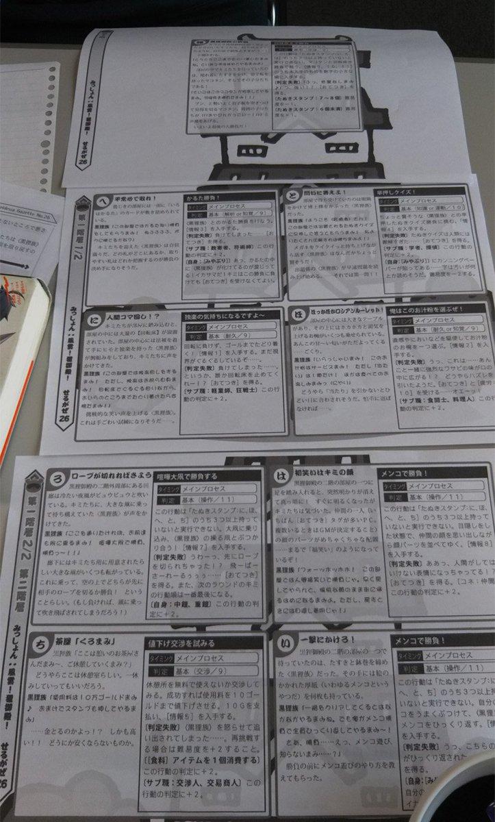 1月期定例会の様子です。ログホライズンTRPGはセルデシア・ガゼットvol.26の別冊シナリオ『出動! お年玉防衛隊!!