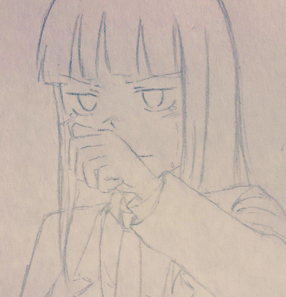 ようやくお絵描きタイムできたので駆け足で泣き林さん! #ド嬢