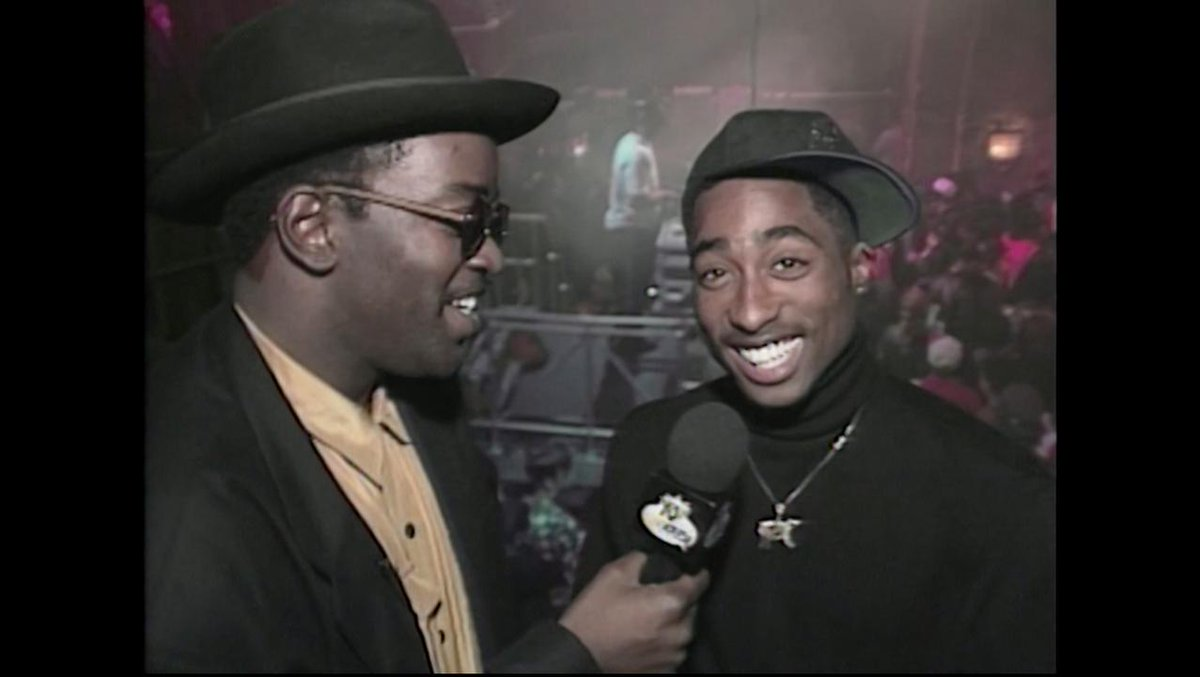 "throwback to Tupac discussing his role in the film ""Juice"" on Yo! MTV Raps"