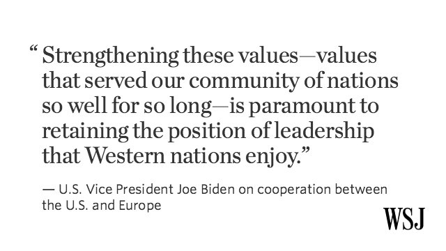 In a speech in Davos, Joe Biden lashes out at Trump over comments on NATO