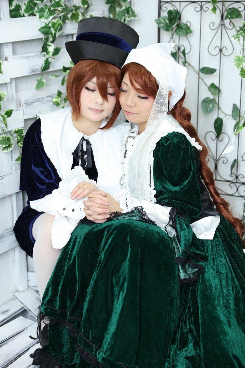 【コス写真】コス初め☆とまたと一緒にうみねこのなく頃にとローゼンメイデンしてきた!!両方双子(?)だね!!!!!蒼星石・