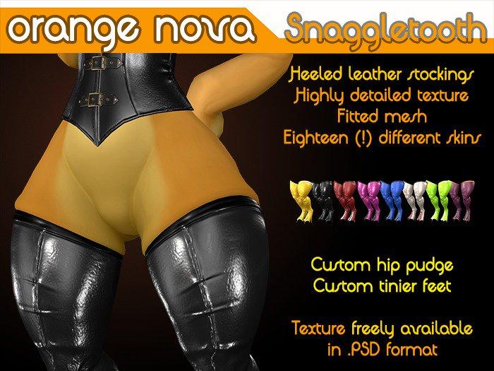 昨日の買い物Orange Novaさん本家作のコボルト用ストッキング普通のこういう靴下系なら足の周りに包むのが普通にある