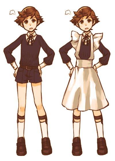 少年メイド天田くん「下はズボンですよ!!」