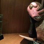 RT> カフェ★ブラックスターにいたピット星人さんが怪獣酒場にいらしてたみたいですね\( ' ε ' )/ ※写真