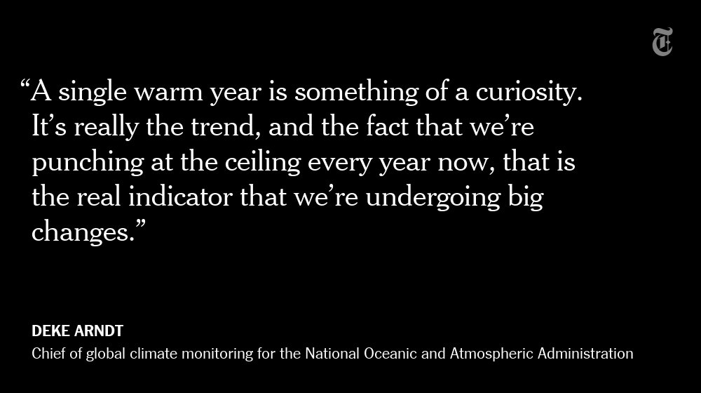 RT @nytimes: The Earth reached its highest temperature on record in 2016 https://t.co/Ep4mbkokJj https://t.co/49BgWmzMu6
