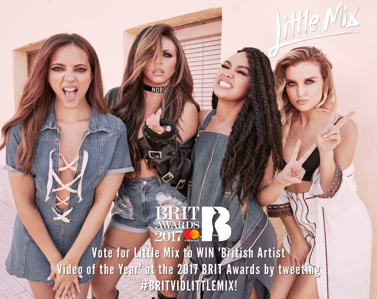 Tell your friends, cleaning lady's, grandma's, dog! Today is about spreading the #BRITVIDLITTLEMIX 💛 LET'S GO! #LittleMixBRITs the girls x
