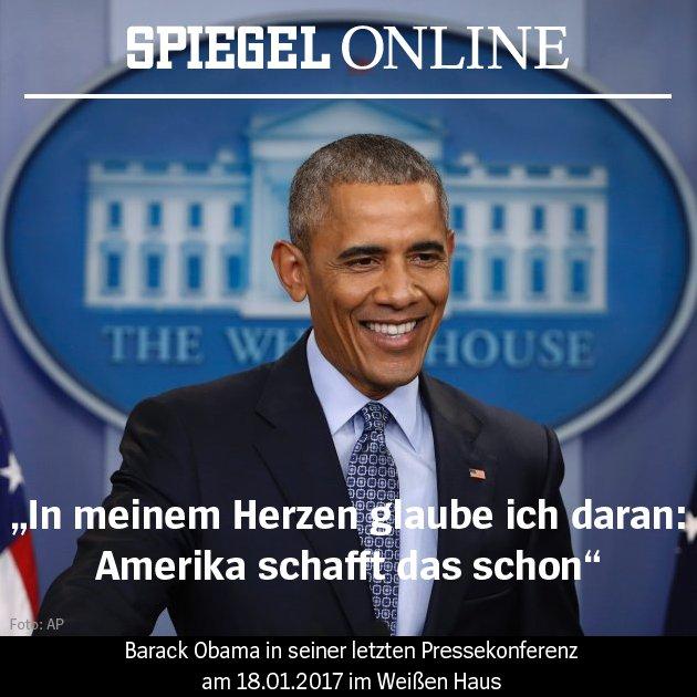 Barack Obama hat heute seine letzte Pressekonferenz als US-Präsident gegeben. In zwei Tagen zieht Donald Trump ins Weiße Haus ein.