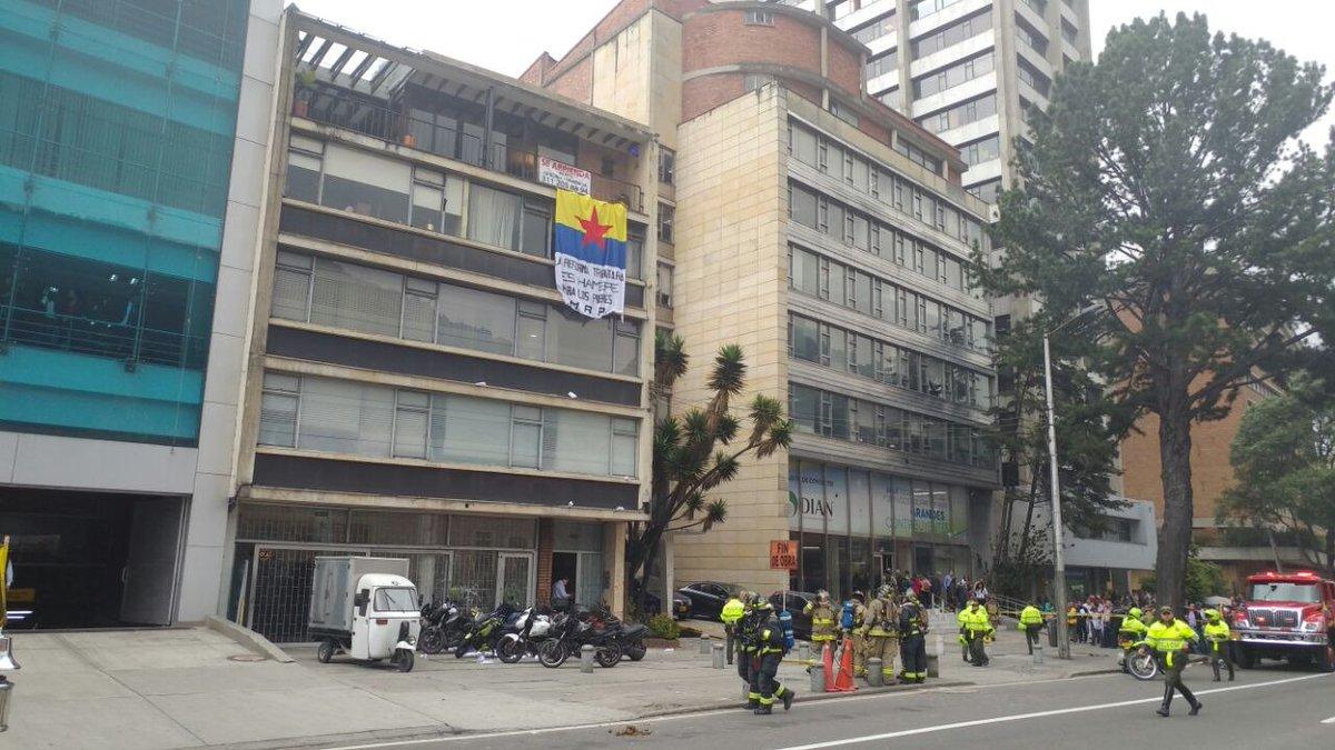 Dian condena explosión de petardo en centro de Bogotá