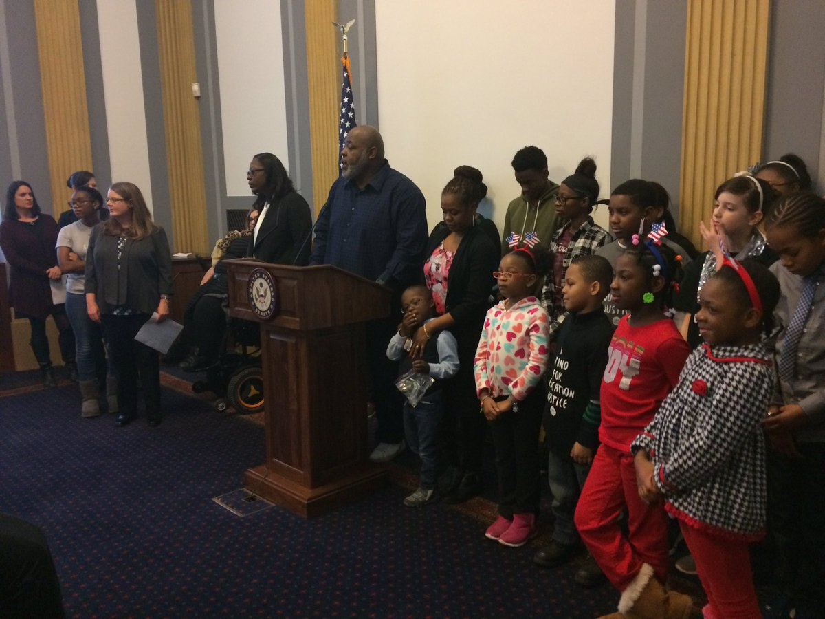Happening now: educators, students and families speak up against Betsy #DeVos' nomination to run Ed Dept. https://t.co/BwRHlnv5qa