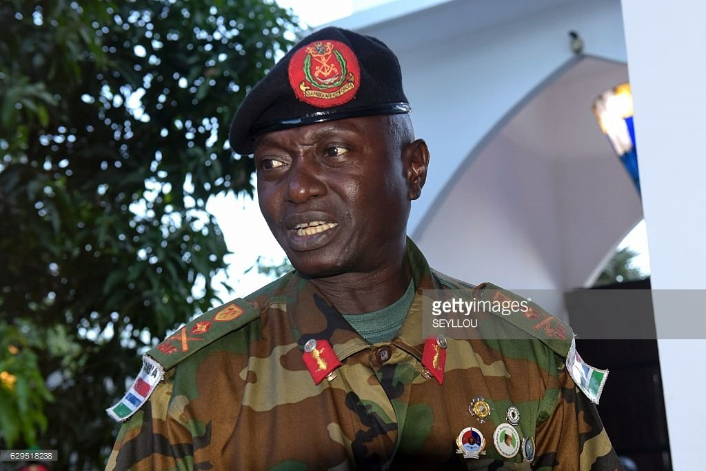 """""""I am not going to involve my soldiers in a stupid fight. I love my men."""" -- General Ousman Badjie, #Gambia https://t.co/tkzYUoTqc4"""