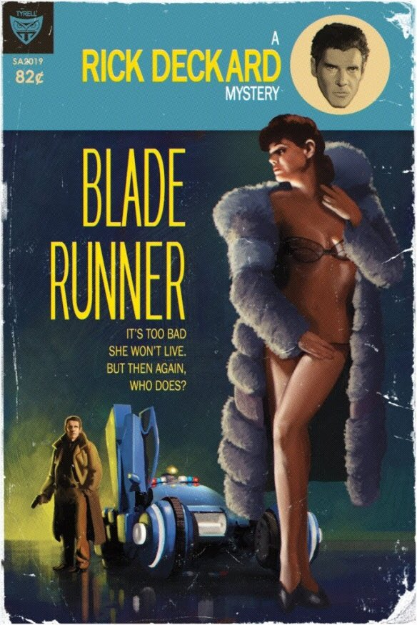 RT @TikiAmbassador: Love this faux #BladeRunner pocket novel art. https://t.co/QaP4AQp1uE