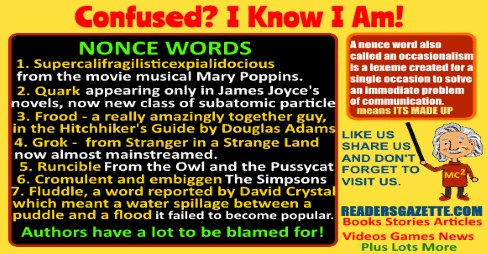 #Authors have a lot to be blamed for especially Nonce Words: Confused I Know I Am! https://t.co/vZSorGZyNH 3 https://t.co/EpO4PLl5MN