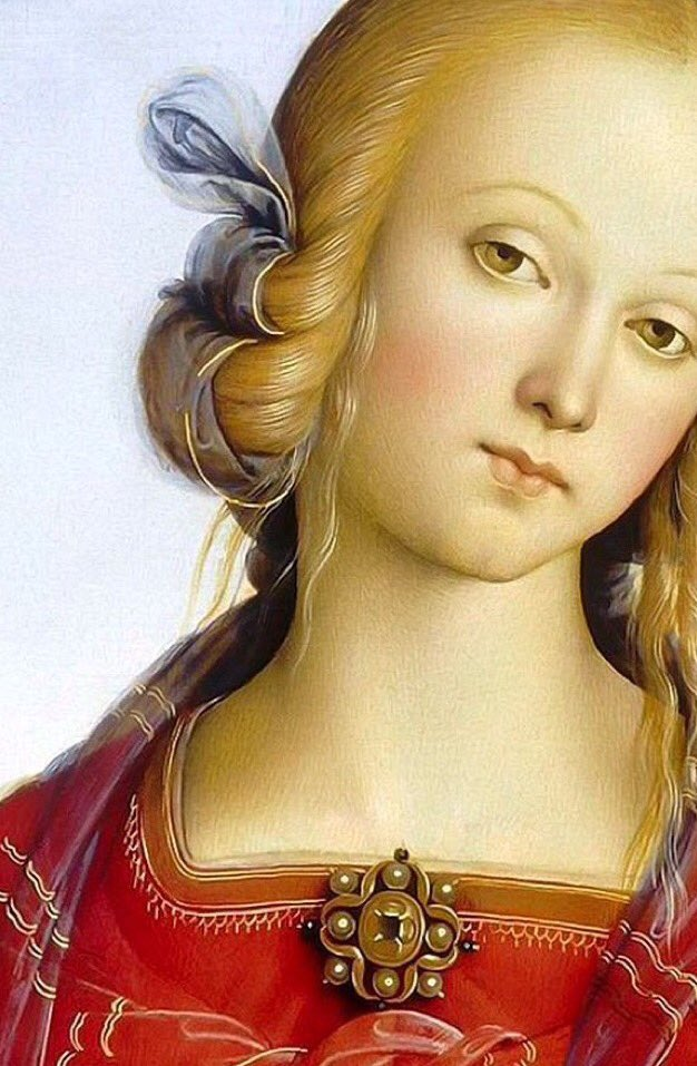 Perugino  Virgin and Child with two Angels and S. Catherine and S.Rose Olio su Tavola  1490  Detail  Museo del Louvre https://t.co/5o82JANyCJ