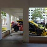 Reversing taxi crashes into walkway between 2 blocks in Jurong West Street 81