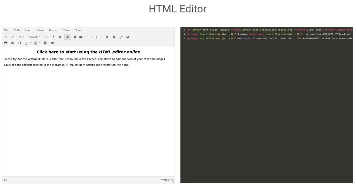 HTML Editor : An extremely simple and stable editor you can start using right away https://t.co/gbdffcRhUo