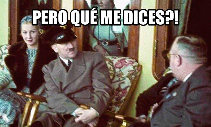 """Cuando te enteras de que la Fundación Franco ha dicho que """"Franco era la antítesis de Hitler""""."""