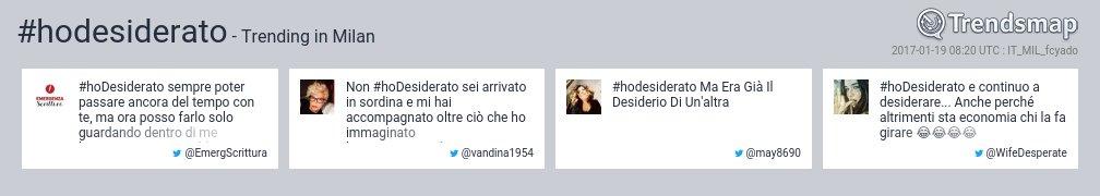 #hoDesiderato