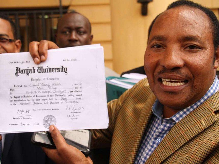 Waititu seeks Sh50 million from Kabogo after winning degree case