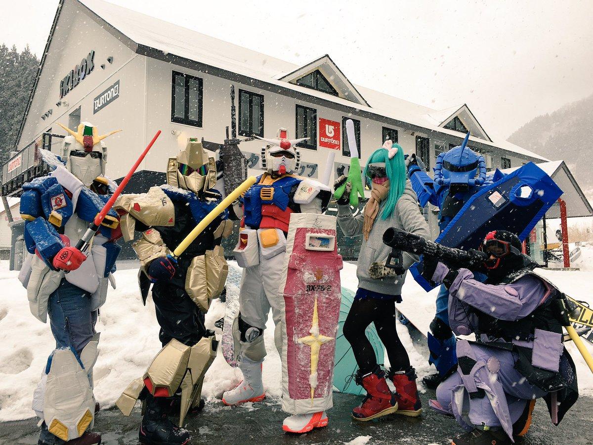 今週の土曜日はハチ北に日本中のゲレンデで大人気の生ガンダムさんが来るよ~😄🌟