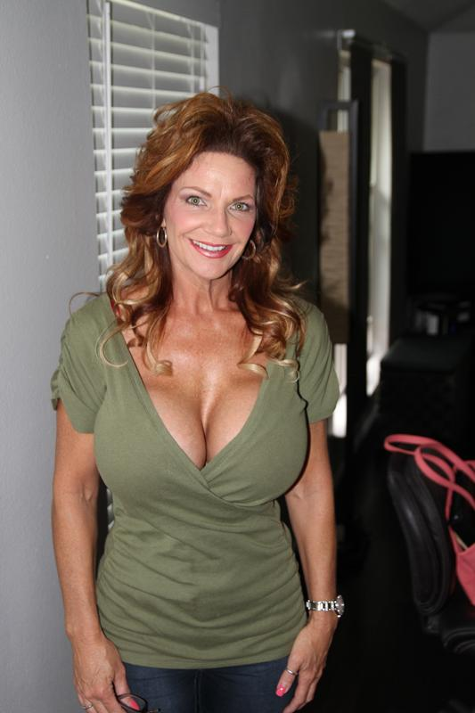 Naughty MILF with shapely boobs Deauxma takes off underwear  344550
