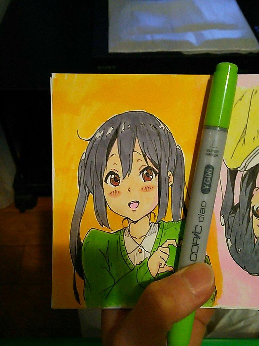 描いてみました~あずにゃんヾ(*´∀`)💕💕あずにゃん練習中〰(>_<)✏🎨#k_on#けいおん#中野梓