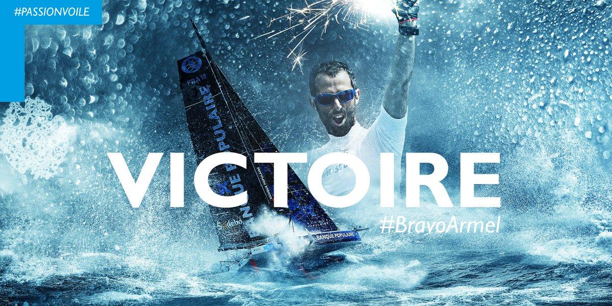 RT @VoileBanquePop: VICTOIRE 🏆 ! Armel Le Cléac'h remporte le @VendeeGlobe ! #BravoArmel https://t.co/OYVerfgKhc