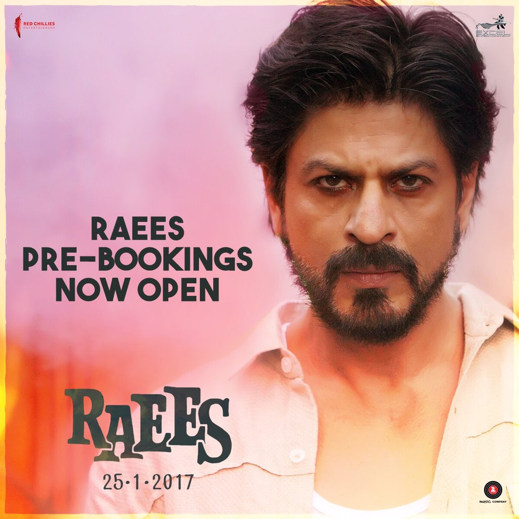 Apna time shuru! #RaeesPreBookings are now open...