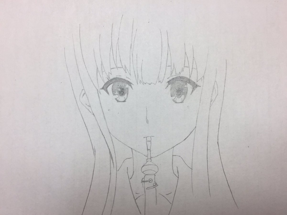 リクエストで響けユーフォニアムのみぞれ描いてくださいっていただいたから描いてみました出来は相変わらず残念ですが(ヽ´ω`
