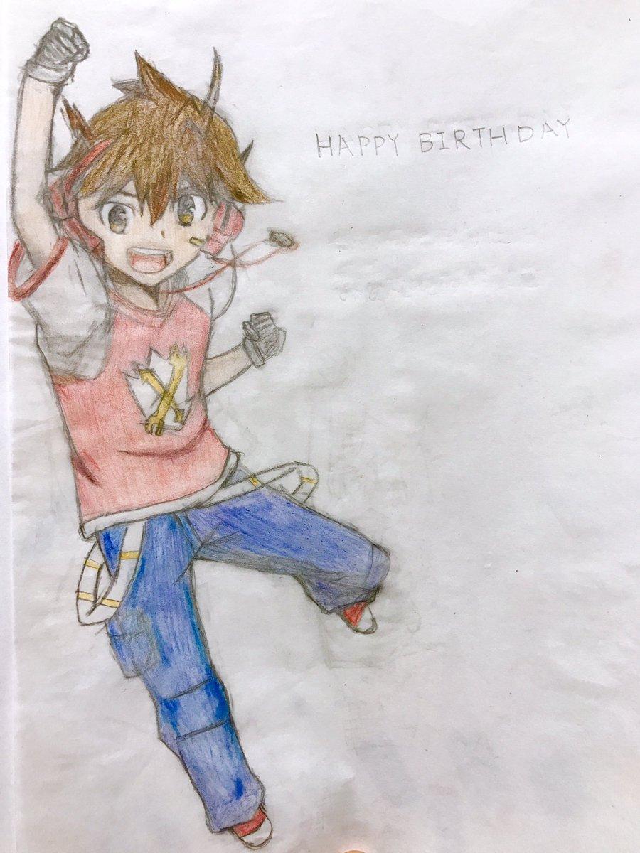 麻里奈さんお誕生日おめでとうございます!今回はジャイロゼッターのカケルを描きました。これからもずっと応援しているので、