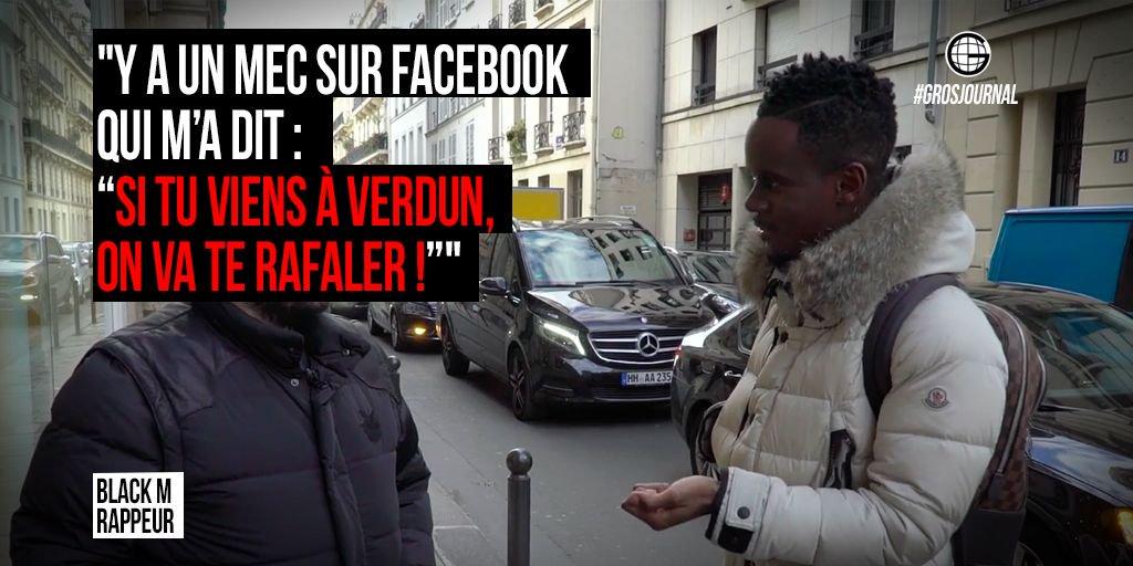 """'Y a un mec sur Facebook m'a dit, """"si tu viens à Verdun, on va te rafaler !"""" - @Bmesrimes au #GrosJournal https://t.co/ukon19t2bH"""