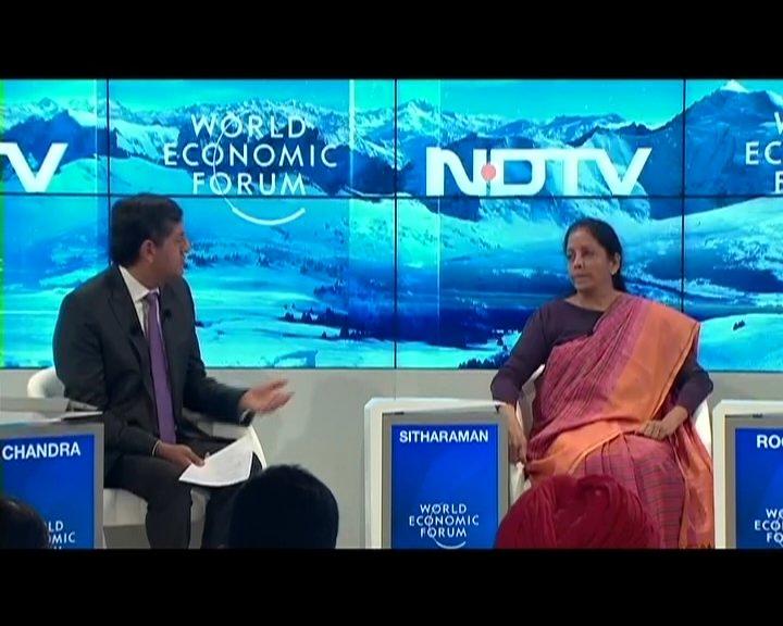 #NDTVAtDavos | We owed #DeMonetisation to nation @nsitharaman#worldeconomicforum