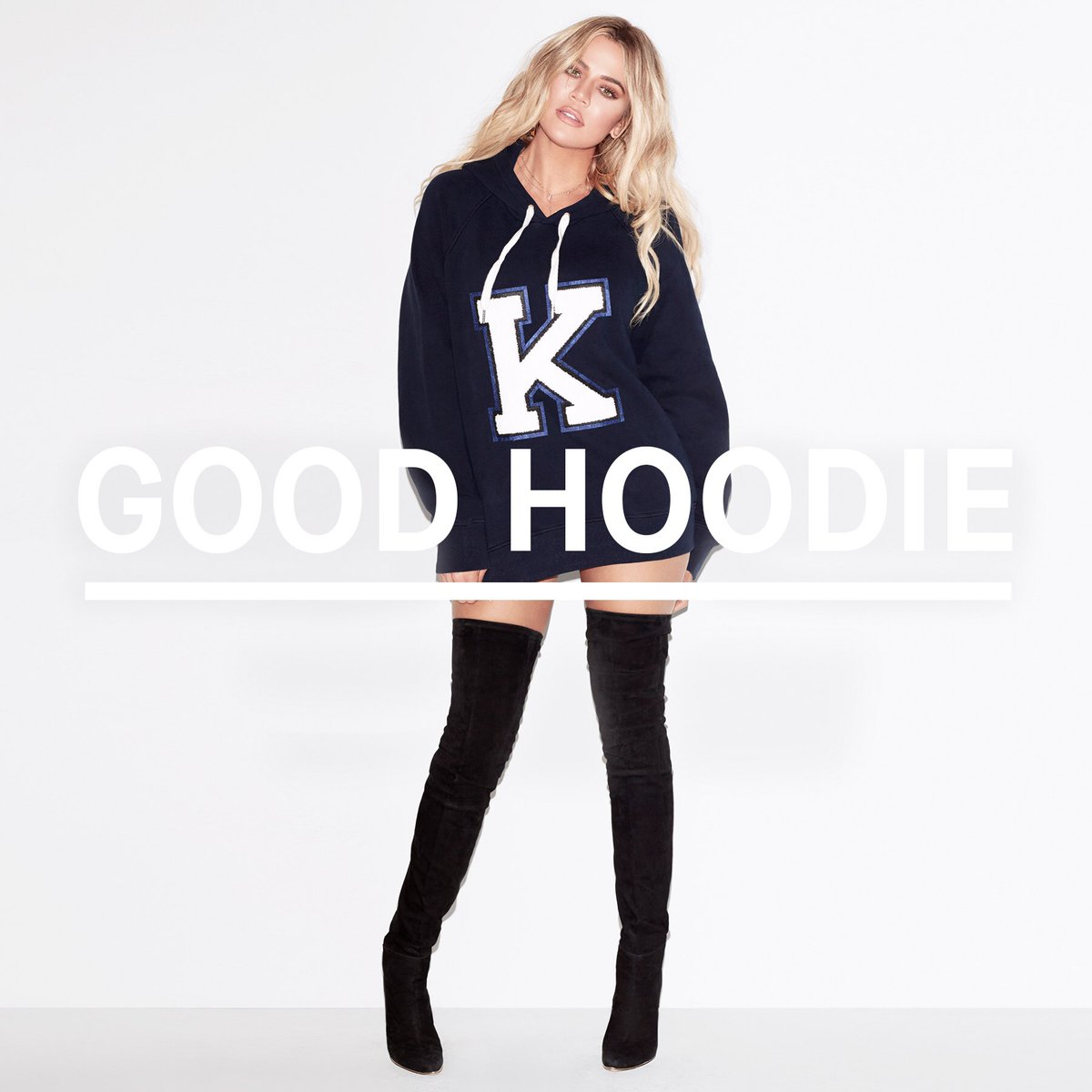 My brand new @goodamerican limited edition Letter Hoodie is available NOW, exclusively at https://t.co/sztXSyya4W! https://t.co/wMaDWantPk