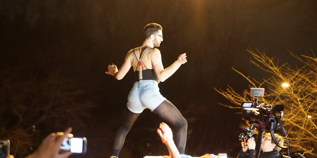Hundreds of queer people held a guerrilla dance party outside Mike Pence's house
