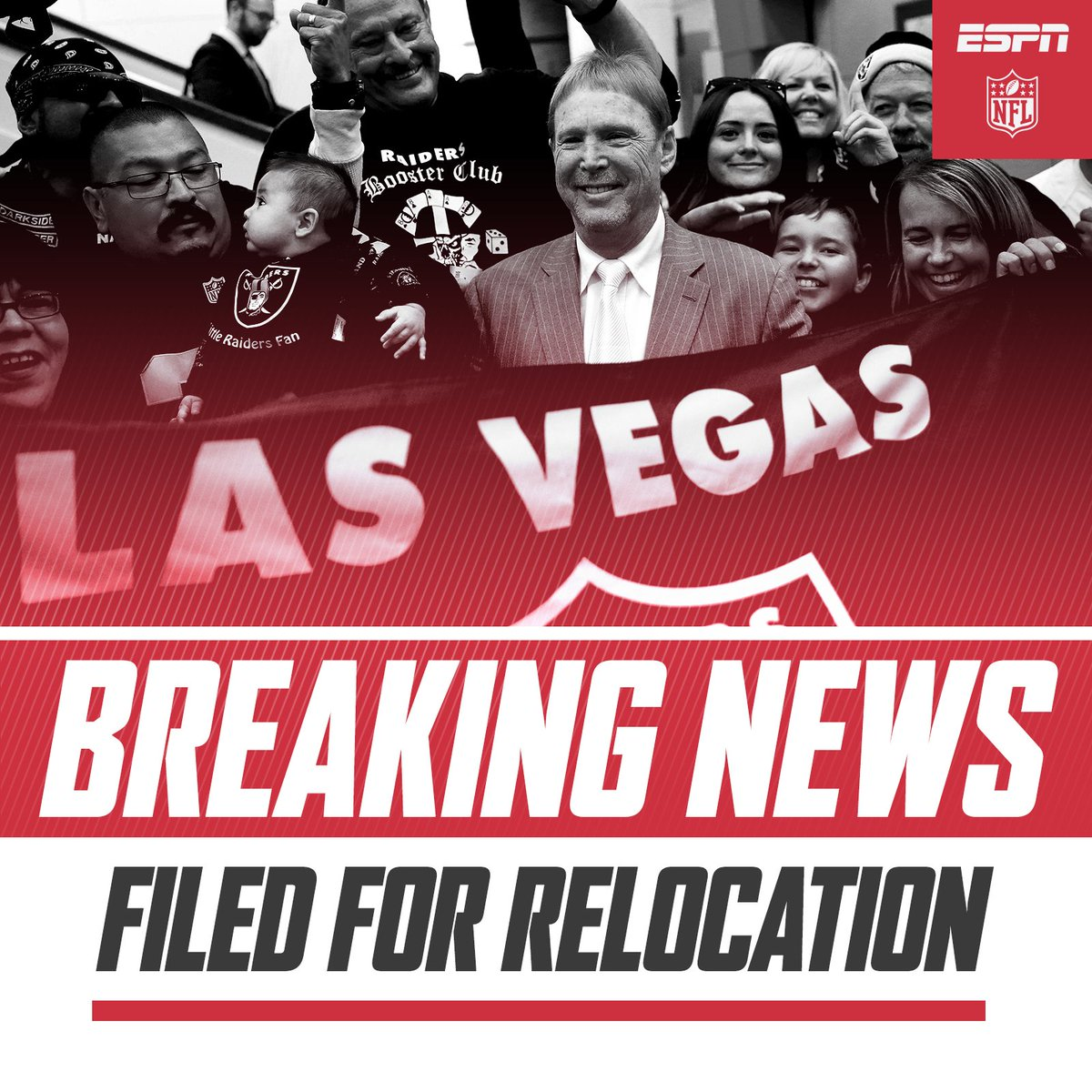 The Oakland Raiders have filed paperwork to move to Las Vegas.
