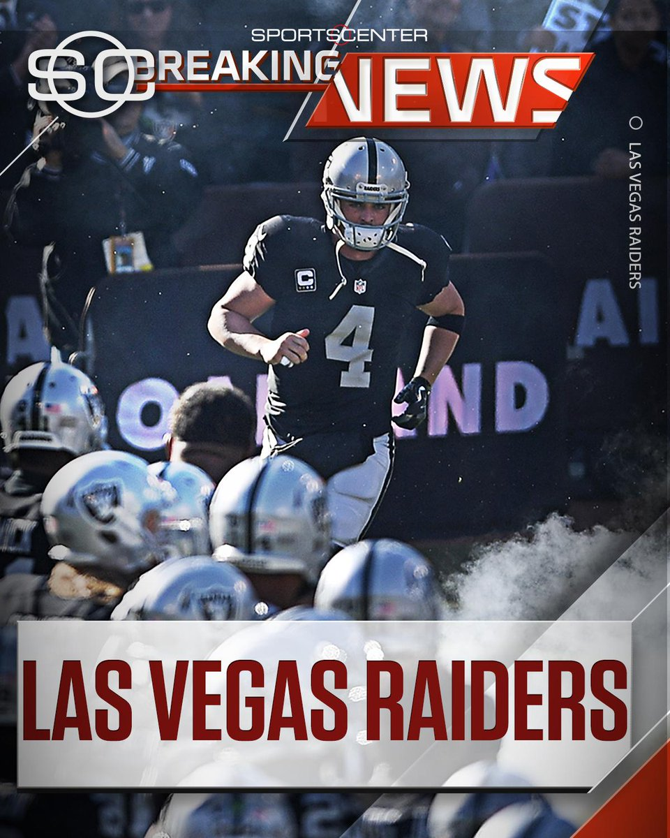 BREAKING NEWS The Oakland Raiders have officially filed paperwork for a relocation to Las Vegas.