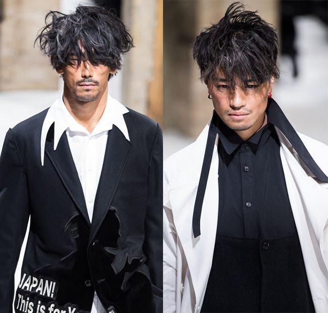 ヨウジヤマモトが本日パリで発表した新作コレクション全ルック - EXILEのNAOKI、俳優・斎藤工がモデルに