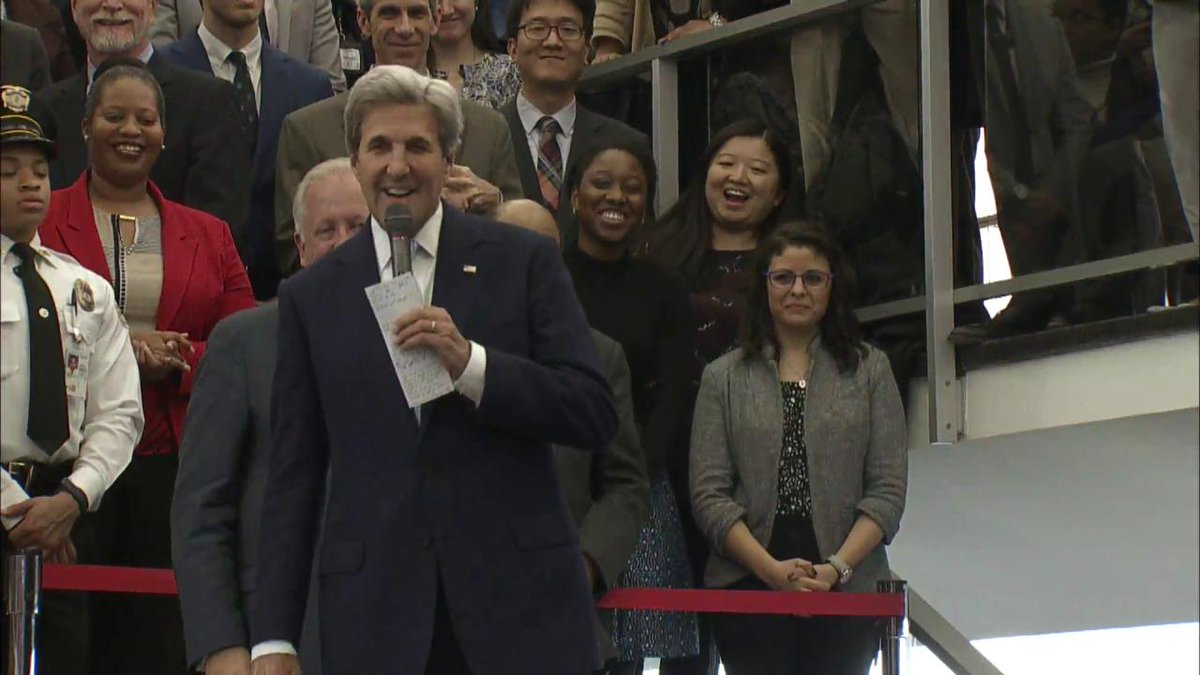 U.S. Secretary of State @JohnKerry delivers farewell and thanks State Department employees.