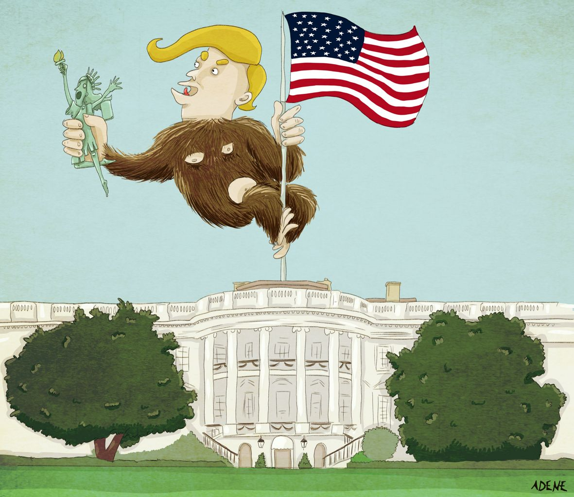 RT @Adenecartoon: #Trump in the #WhiteHouse #cartoon #Dessindepresse #TrumpInaugural #Viñeta https://t.co/fABvPQx147 https://t.co/fUSsh0hxkF